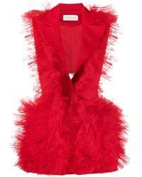 Loulou Ruffle-detail Tailored Waistcoat