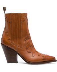 Sartore Stiefel aus Leder - Braun