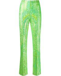 Saks Potts High-rise Metallic Pants - Green