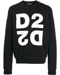 DSquared² Double D2 Logo Sweatshirt - Black