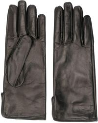MSGM Leather Driving Gloves - Black
