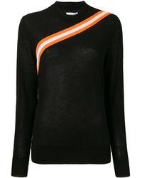 Calvin Klein Трикотажный Топ С Диагональными Полосками - Черный