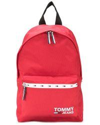 Tommy Hilfiger Sac à dos à logo - Rouge