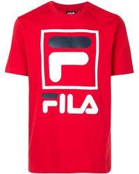 Fila ロゴ Tシャツ - レッド