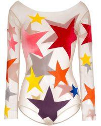 Alexia Hentsch Star Print Appliqué Bodysuit - Multicolour