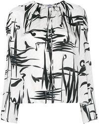Balenciaga Блузка С Графическим Принтом - Белый