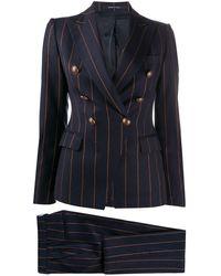 Tagliatore Pantalones de traje a rayas diplomáticas - Azul