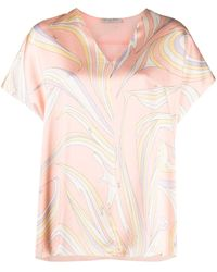 Emilio Pucci Vortici プリント Tシャツ - ピンク
