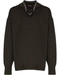 Y. Project フォールドカラー セーター - ブラック