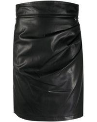 Twin Set ハイウエスト ギャザースカート - ブラック