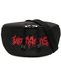 Vetements Logo-embroidered Belt Bag - Black