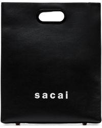 Sacai - ブラック ミディアム ショッパー トート - Lyst