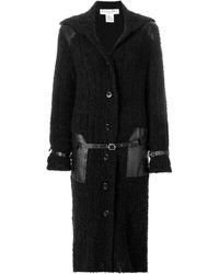 Dior Abrigo largo con cinturón - Negro