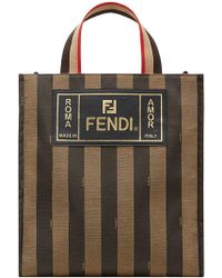 Fendi - Striped Tote Bag - Lyst