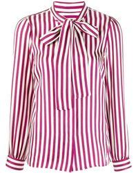 MICHAEL Michael Kors Атласная Рубашка В Полоску - Красный