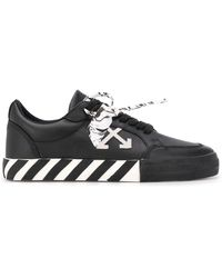 Off-White c/o Virgil Abloh Vulcanized Low-top Sneakers - Zwart