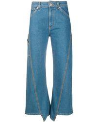Lanvin パネル クロップドジーンズ - ブルー