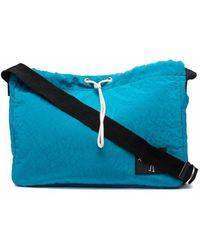 Plan C Drawstring Shoulder Bag - Blue