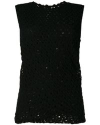 Jil Sander - Ruched Sleeveless Knit Top - Lyst