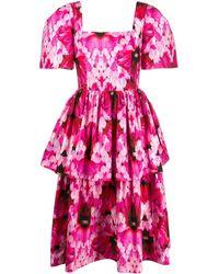 Alexander McQueen - Платье Endangered С Цветочным Принтом И Оборками - Lyst