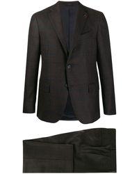 Lardini - チェック ツーピーススーツ - Lyst
