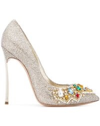 Casadei - Embellished Court Shoes - Lyst