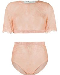 Off-White c/o Virgil Abloh Cropped Top - Roze