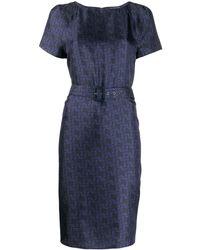 Bally ベルテッド ドレス - ブルー