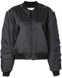 Designers Remix Check Patch Bomber Jacket - Black