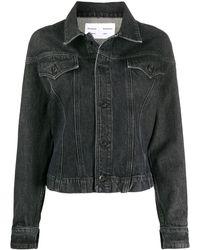 PROENZA SCHOULER WHITE LABEL Washed Cinched Denim Jacket - Black