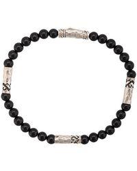John Hardy - Silver Classic Chain Onyx Round Bead Four-station Bracelet - Lyst