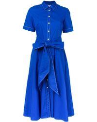 P.A.R.O.S.H. Vestido acampanado de manga corta - Azul