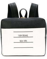 Thom Browne Paper Label Zip-top Book Bag - Black