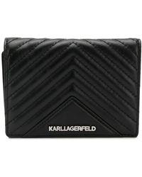 Karl Lagerfeld Cartera acolchada K/Klassic - Negro