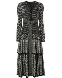 Proenza Schouler - Block Print Long Sleeve Dress - Lyst