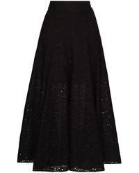 Three Graces London Amelina Aラインスカート - ブラック
