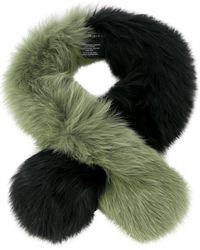 Charlotte Simone Fox Fur Scarf - グリーン