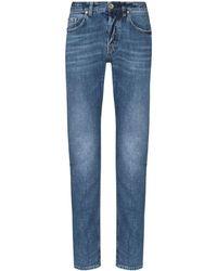 Eleventy Slim Leg Jeans - Blue