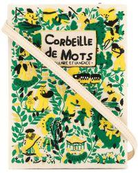 Olympia Le-Tan 'Corbeille de Mots' Buch-Clutch - Weiß