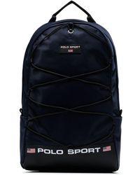 Polo Ralph Lauren Logo Print Backpack - Blue