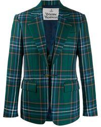 Vivienne Westwood チェック シングルジャケット - グリーン