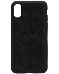 Dolce & Gabbana Coque d'iPhone X/XS à logo embossé DG - Noir