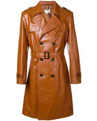 Maison Margiela Double-breasted Boxy Coat - Brown