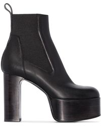 Rick Owens Kiss Ankle Boots - Black
