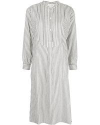Nili Lotan ストライプ シャツドレス - ホワイト