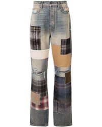 Amiri Jeans im Patchwork-Look - Blau