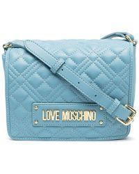 Love Moschino Стеганая Сумка Через Плечо С Логотипом - Синий
