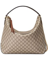 7802397b8 Gucci Brown Gg Supreme Bees Tote in Brown - Lyst