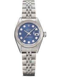 Rolex 1998 Pre-owned Datejust Horloge - Blauw