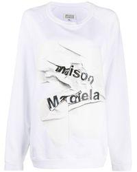 Maison Margiela ロゴ スウェットシャツ - ホワイト